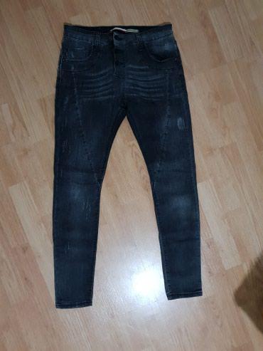 Zenske pantalone od tamnog dzinsa, kao nove velicina: S - Loznica