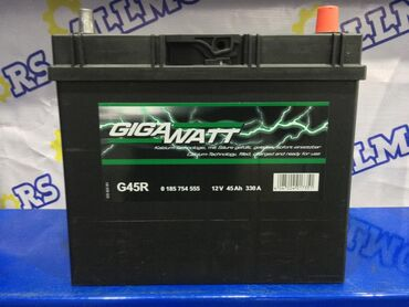 Аккумулятор GigaWatt G45R (45 Ah).Гарантия 2 года + бесплатное