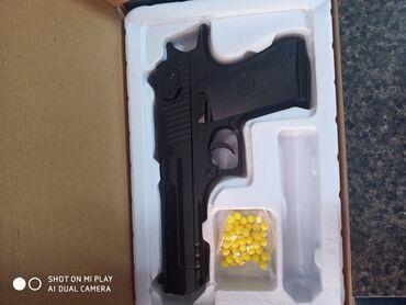 сигнальный пистолет в Кыргызстан: ИгрушечныйЖелезный пистолет Стреляет пластиковыми пулями (6 мм)К