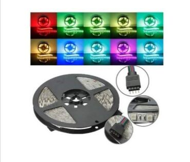 Sve za elektriku   Srbija: RGB SMD LED 3528 traka 5m VODOTPORNE sa KONTROLOM