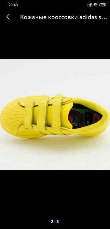 adidas ace в Кыргызстан: Детские кроссовки adidas superstar. Кожа. Новые. Размер 34-35. Цена