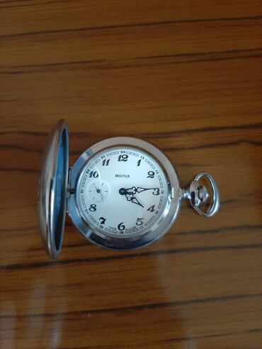 Əntiq saatlar - Azərbaycan: Molniya mexaniki cib saatı. SSRİ istehsalıdır. 3-cü illərdə istehsal