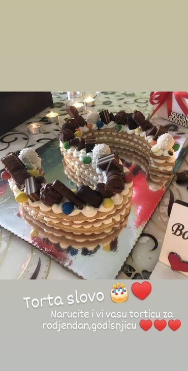 Torte u obliku slova i brojeva Krusevac