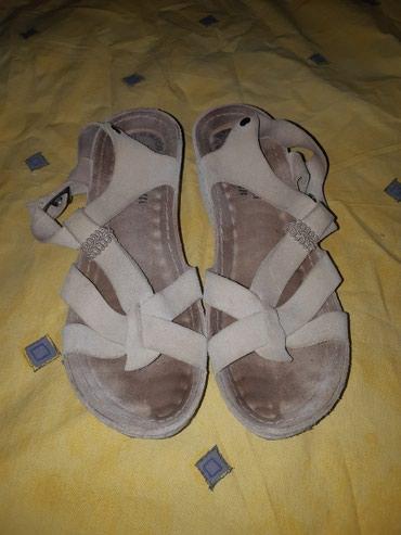 Kožne bež sandale, broj 39 Potpuno očuvane - Kragujevac
