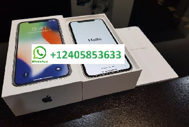 Новый Apple iPhone X 256Gb серебристый