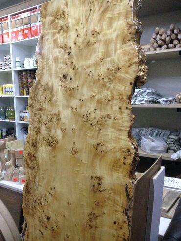 шикарный топ в Кыргызстан: Столешница слэб из корня тополя покрытый эпоксидной смолой длина