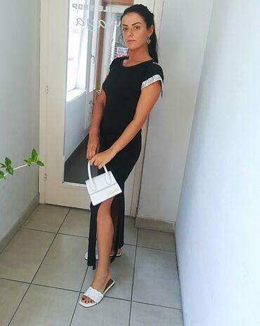 Prelepa haljina pamuk elastin vel S M VRHUNSKI kvalitet Super model