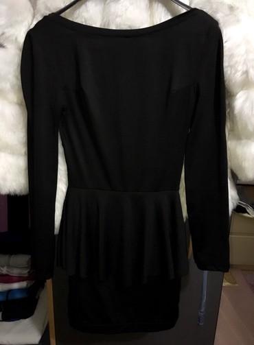 Haljine | Bor: Crna strukirana haljina, prelepo stoji. S-m