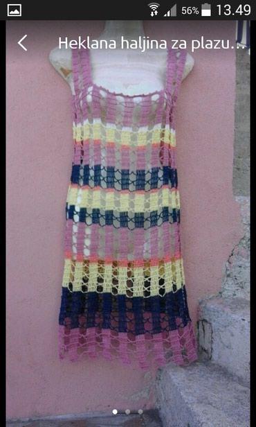 Heklana haljina za plazu  rucni rad novo - Vrnjacka Banja - slika 2