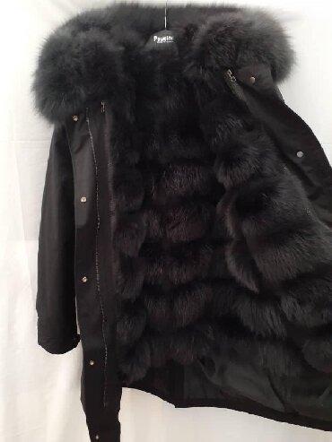 зимние куртки женские длинные в Кыргызстан: Новая парка из натурального песца✓Изнутри отстёгивается и превращается