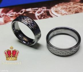 """чёрное кольцо из вольфрама в Кыргызстан: Кольцо """"бесконечность"""" из вольфрама. все размеры в наличии"""