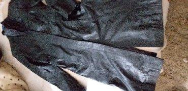 Kozni-mantil-calenzano - Srbija: Crni kozni mantil, malo koeiscen, bez ostecenja, marke Cotton