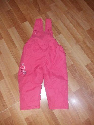 Garder-po - Srbija: Ski pantalone ostale su crvene. Velicina 3. Veoma ocuvane bez ikakvih