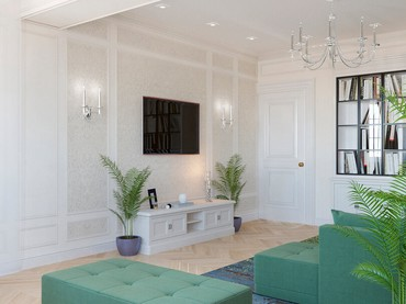 Дизайн гостинной комнаты. Современная в Бишкек