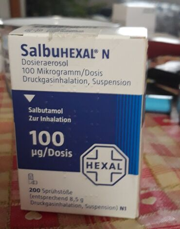 Medicinski proizvodi - Srbija: Salbuhexal N100Mikrogramm/DosisSalbutamol genericko ime.200