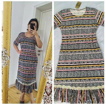 хб платье в Кыргызстан: Новое платье,длинное, материал хб (46-48р)300сом