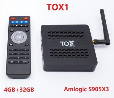 Лидер продаж смарт тв-приставка tox1 amlogic s905x3
