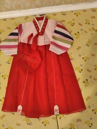 plate na 10 11 let в Кыргызстан: Корейский национальный костюм ханбок.Ханбок на девочку 5-7 лет.Очень