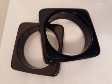 Plasticne narukvice, braon i crna, mogu i odvojeno - Belgrade