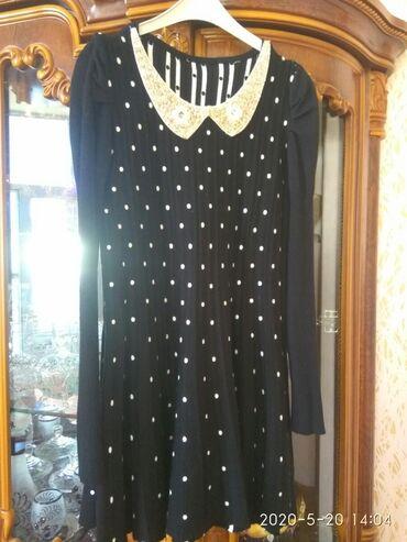 Платье с белыми горошинами. 38-40-42 размера. Новая