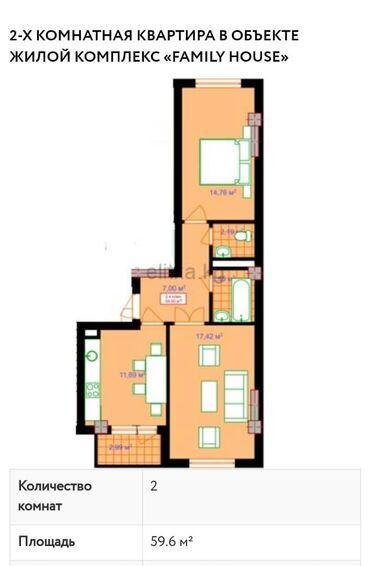 Продается квартира: 2 комнаты, 9 кв. м