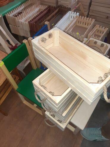 Ящик деревянный декоративный для цветов и подарков