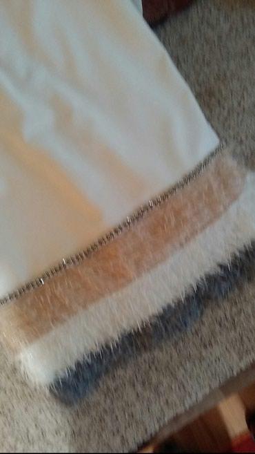 Haljina ital vel 40 iznad kolena divna sa dodacima krzna i cirkona - Loznica