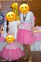 Продам платья для мамы (размер M) и для дочки (12 мес). Надеты один ра в Лебединовка