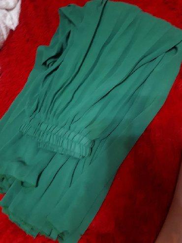 Новая зеленая юбка в пол 200 сом