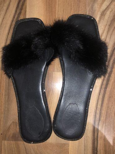 Другая женская обувь в Кыргызстан: Шлепки с кроликом, кожаные
