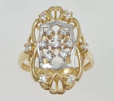 Кольцо из желтого и белого золота, 585 в Бишкек