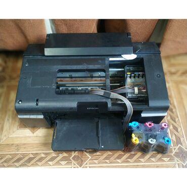 Epson R290 принтер 6 цветов, рабочий, долго стоял, пример печати на