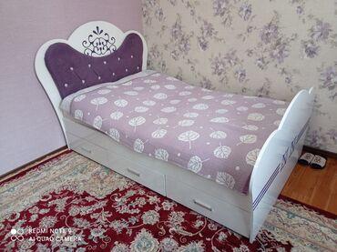 Кровать фиолетовый и шкаф - 20000 сом 2 кровать и шкаф -20000сом