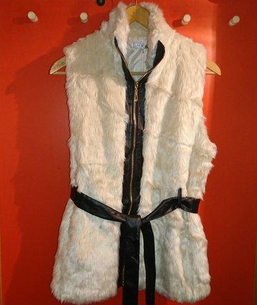 Avo krzno obim - Srbija: Ženski prsluk, veštačko krzno, krem boja, dva džepa, ima rol kragnu