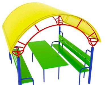фанера 18 мм в Кыргызстан: Беседка со столиком для детской площадки Размер: 1700*2000*2300 мм мм