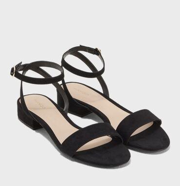 Женская обувь - Кыргызстан: Замшевые босоножки Mango 40 размера в отличном состоянии