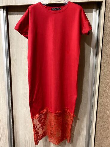 туры с бишкека в Кыргызстан: Платье футболка (Турция) с гипюром снизу
