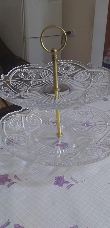 столик для фруктов в Кыргызстан: Ваза для фруктов 2х ярусная в отличном состоянии