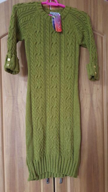 Платье теплое резинка размер стандарт M-L новое 44-46
