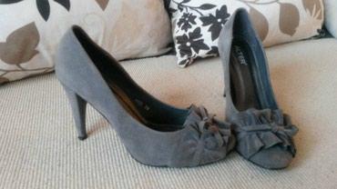 Ženska obuća | Stara Pazova: Antilop sive cipele, jednom obuvene, br.38