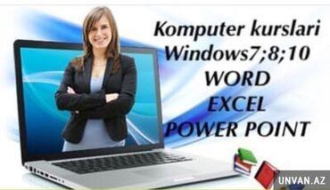 Kompüter kursları   Microsoft Windows, Microsoft Office, Corel Draw   Onlayn, Fərdi, Qrup