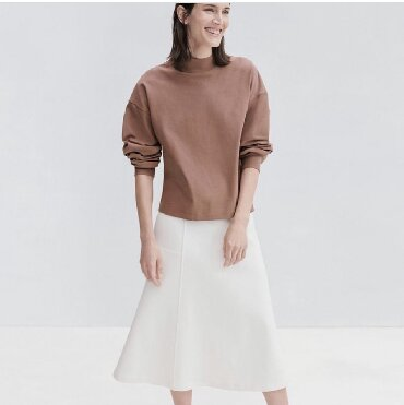 В наличии юбка Uniqlo - 2500 сом, цвета :белый коричневый и черный