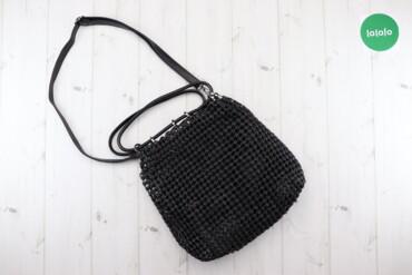 Жіноча подвійна сумка    Колір чорний Висота 35 см Ширина 35 см  Стан
