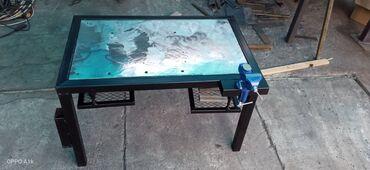 продажа бу инструмента в Кыргызстан: Продаётся маленький сварочный стол,толщина листа 10 мм.высота 50 см