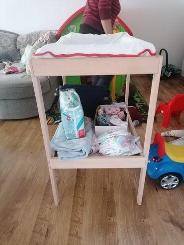Ikea podloga, navlaka i sto za presvlacenje bebe Kao novo 2000din
