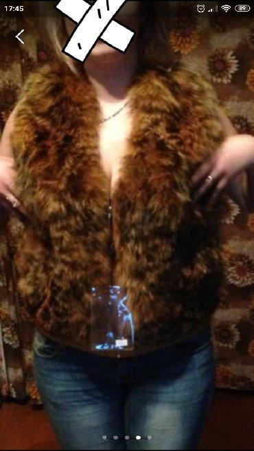 жилетка натуральный мех в Кыргызстан: Безрукавка,натуральный мех!!! с кожаными вставками. новая!!! реальным