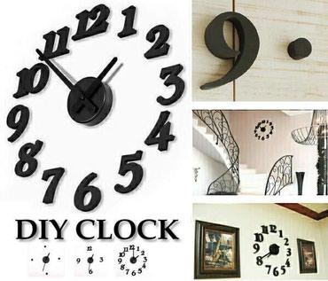 Bakı şəhərində Dekor saat, rəqəmlər və saat divara ayrıca yapışdırılır, ağ
