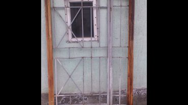 Решетка на двери двухстворчатая в Бишкек