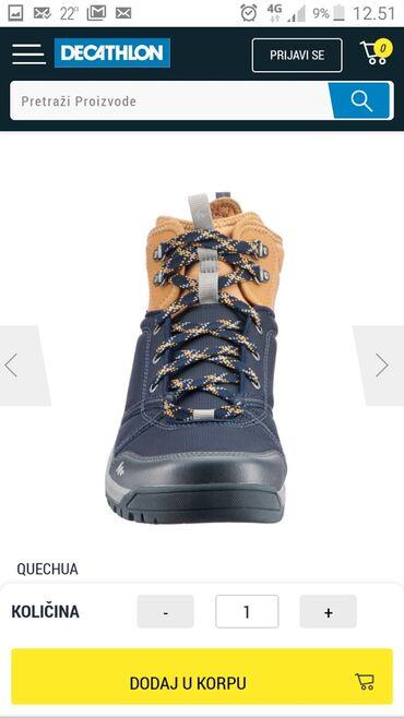 Muske cipele - Srbija: QUECHUA muške cipele za pešačenje.Plave-srednje