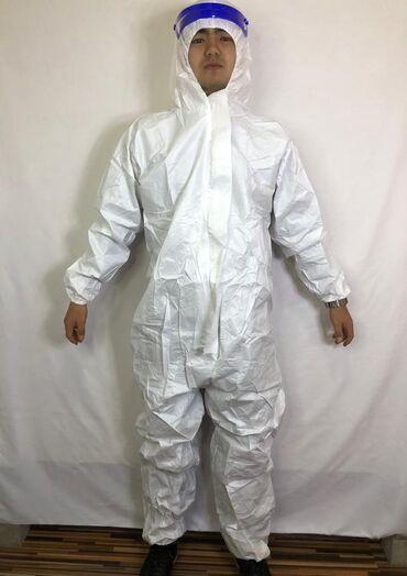 Медицинская одежда - Кыргызстан: Комбинезон Тайвек (белый)  Имеется сертификат соответствия. Цельнокрое